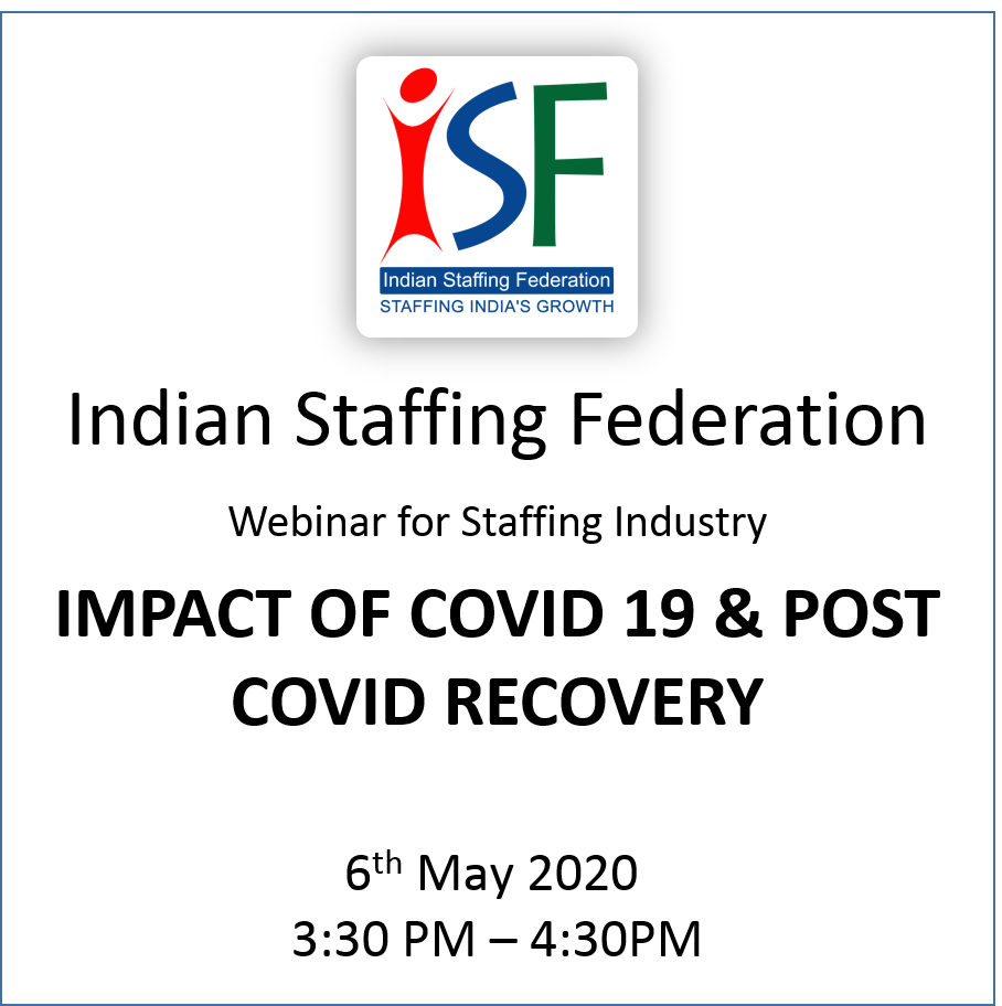 Webinar for Staffing Industry IMPACT OF COVID 19 & POST COVID RECOVERY