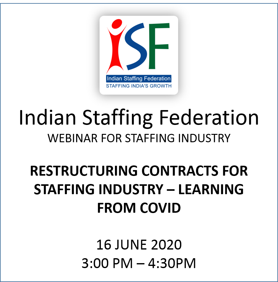 RESTRUCTURING CONTRACTS FOR STAFFING INDUSTRY – LEARNING  FROM COVID
